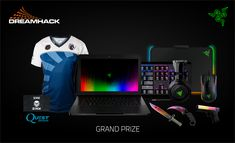Razer DreamHack 2016 Sweepstakes. Razer has teamed up with Jinx, CSGOLotto and QuestGaming to organize Razer Blade Gaming Laptop DreamHack 2016 Giveaway. To enter in this giveaway for a chance to win brand new gaming laptop and just released Razer headset. Enter Here To Win : http://www.razerzone.com/dreamhack-2016