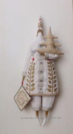 Mundo Encantado (Tilda e Eu): Quilted Father Christmas!