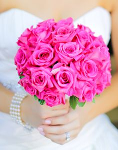 WeddingChannel Galleries: Pink Roses Bridal Bouquet