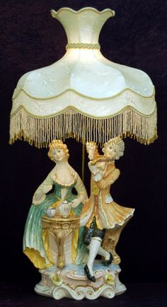capodimonte lamp birds | Photo of Capodimonte style porcelain ...