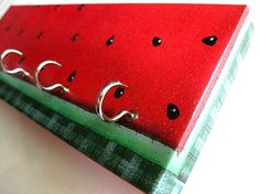Key Rack and Jewelry Holder Watermelon Watermelon by ElegantQuirk, $15.00