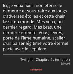 Film Twilight, Saga, Messages, Quotations, Writing, Quotes, Books, Emma Watson, Romantic Quotes