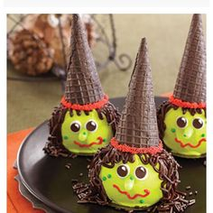 Witch Cupcakes Halloween Food Idea