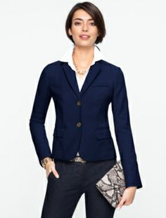 Talbots - Double-Weave Jacket | New Arrivals | Misses