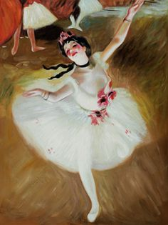 Let's learn about Degas by doing a classroom art project - check out nearby pin.