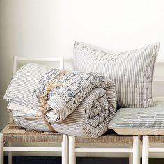 ticking bedding quilt