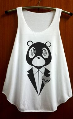 Dropout Bear Shirt Kanye West Clothing Shirts Vest by ABBEYSTORE, $14.99