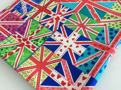 Fat Quarter  100 cotton fabric Flags by Craftlandia23 on Etsy, €2.75