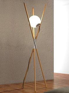 Ash floor #lamp with dimmer MOON by ENVY | #design Noji