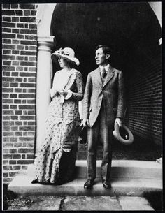 Virginia and Leonard Woolf on their wedding day, August, 1912.