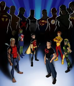 "Young Justice ""The Original Justice League Background Young Justice Season 3, Young Justice League, Kid Flash, Tim Drake, Cartoon Network, Miss Martian, Fictional Heroes, Robin, Comic Art Community"