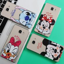 Minnie Mickey Case Pour Coque iPhone 7 6 6 S 5 5S 5C SE pour Samsung Galaxy J3 J5 A3 A5 2016 2015 2017 Grand Prime S5 S6 S7 bord(China (Mainland))