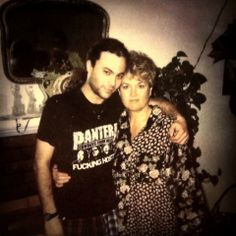 Mikey & his momma...Gayle Starr