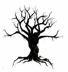 creepy bird in tree silhouette | Creepy Tree