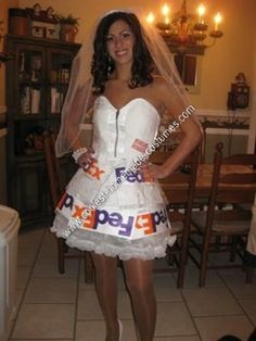"""Mail order bride"" - Great literal Halloween costume"