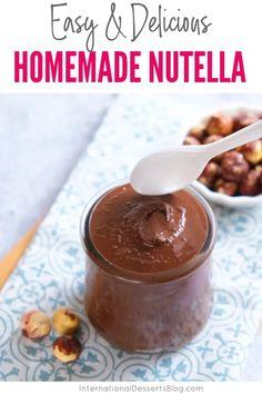 Homemade Nutella Recipes, Homemade Chocolate, Make Your Own Chocolate, Chocolate Treats, Dessert Blog, Dessert Recipes, Desserts, Macaroon Recipes, Cupcakes