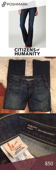 Citizens for Humanity Kelly Low Rise Bootcut Jeans Citizens for Humanity Kelly #001 Stretch Low Rise Bootcut Jeans. 7 5/8 inch inseam. 32 inch inseam. Worn just a few times. Excellent condition. Size 28 which is a 6. Feel free to make an offer or bundle & save! Citizens of Humanity Jeans Boot Cut