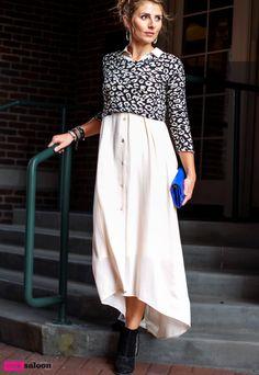 Black, cream and cobalt. ShowMeYourMumu dress & sweater I Foley&Corinna bag I Dolce Vita booties #pinksaloon