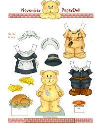 tPaperDollNovember.gif - 19555 Bytes Thanksgiving paper doll bear