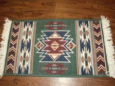 Vintage Southwestern Fringe Western Native 23x44 Runner Accent Door Mat Rug | eBay