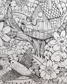 """Picture from my upcoming coloringbook """"Vivi söker en vän"""" (Vivi's looking for a friend) Lovely week here in Stockholm, this summer has really spoiled us with the sun so far. #vivisökerenvän #mariatrolle"""