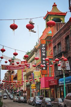 Chinatown, San Francisco. I still have my chinese dressing gown I brought from here :-)