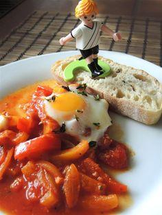 Shakshuka - Tomaten-Paprikagemüse mit Ei