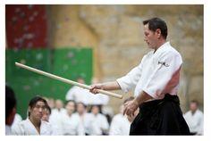 Christian tissier shihan , Jo training at Stade de Paris...  #christiantissier #jo #aikido