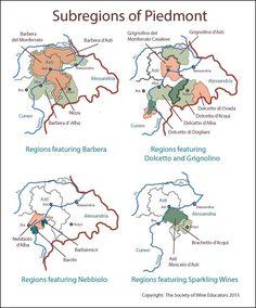 Piedmont subregions #wine #wineeducation