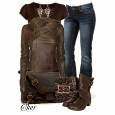 Get Inspired by Fashion: Casual Outfits | Leather Jacket and Jeans