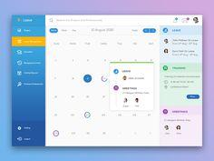 e - Leave Web App Design by Swayam Tech Lab