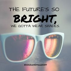 Our future's so bright we gotta wear shades. #hopefuladoptiveparents #adoptionjourney #nationalsunglassesday #sunglasses . . . If you are considering adoption for your baby we may be the hopeful adoptive parents you are looking for Learn more using our #linkinbio #DougAndMiaAdopt #adoption #domesticadoption #adoptionislove