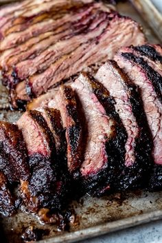 Get ready to create the most juicy, mouthwatering Texas Smoked Brisket in your own backyard using a wood or pellet smoker. These are all my best tips & tricks for making the best smoked beef brisket that is perfect for your next outdoor BBQ. Brisket Meat, Texas Brisket, Beef Brisket Recipes, Smoked Beef Brisket, Smoked Meat Recipes, Grilling Recipes, Pork Recipes, Pork Meat, Traeger Brisket