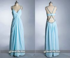 New arrival Light blue prom dress sequin straps by SpecialDayDress, $138.00
