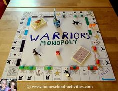 Make your own board game for free. See how to make a variety of board games with your kids, including one which uses blank versions of Monopoly! www.homeschool-activities.com/make-your-own-board-game.html