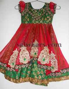 Indian Dresses: Red Frock for Kids