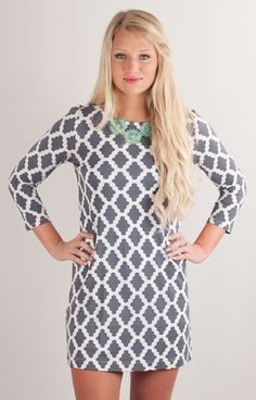 Hourglass Lilly 606DIGGRYWHT Game Day Dress