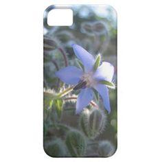 Blue Flower Haze iPhone 5 Cases