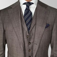The three piece suit that goes all the way. It's not just a vest. It's a waistcoat with lapels. This little touch adds a lot of visual depth to the suit. Good luck finding this off the rack. We make these custom out of thousands of cloth options.