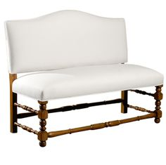 French Upholstered Bench with Back | From a unique collection of antique and modern benches at http://www.1stdibs.com/furniture/seating/benches/