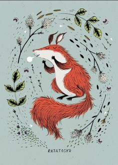 By Kate Hindley. Ratatoskr is a mischievous squirrel who runs up and down the tree spreading gossip.
