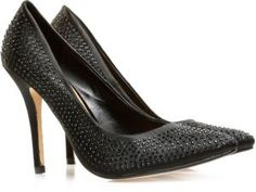 Date night dressing for her - Ella crystal studded high heel #shoes #souq #fashion