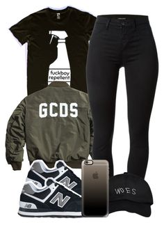 """7:4:15"" by codeineweeknds ❤ liked on Polyvore featuring мода, J Brand, New Balance, October's Very Own и Casetify"