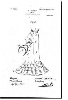 Patent US790299 - Skirt. - Google Patents 1905 Petticoat with built in dress improver hip pads
