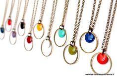 Collier ras de cou PASTILLE coloris au choix