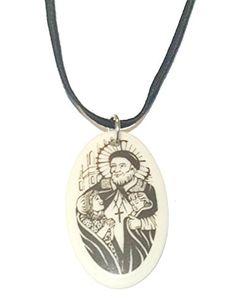 St. Vincent De Paul Clay Medal on Cord Necklace, Catholic... https://www.amazon.com/dp/B01JJVISIG/ref=cm_sw_r_pi_dp_x_mvsaybAQXRW6W