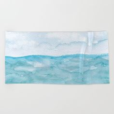 Watercolor by TessaSanDiegoArt on a beach towel. Lay out like a pro with this super comfy, oversized and unique artist-designed… Beach Towel, Your Skin, Watercolor Art, San Diego, Salt, Design Inspiration, Layout, Tapestry, Comfy