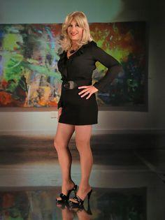 Janet Jones, Tgirls, Crossdressers, Leather Skirt, Sexy, Pretty, Inspiration, Style, Fashion