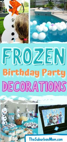 "Remember when Oaken said ""Hoo-hoo! Big summer blowout""? We can't blame him; I mean who doesn't want a Frozen themed party in the middle of summer? And who doesn't love Elsa, Olaf and Anna? Check out these easy and fun Frozen birthday party ideas, which will have you singing and dancing to Let It Go in no time! From party supplies, decorations, games to treats and sweets, we've compiled it all just for you, for a beautiful Frozen summer wonderland! Because some parties are worth melting for! Frozen Theme Party, Frozen Birthday Party, Birthday Parties, Birthday Party Decorations, Party Themes, Party Ideas, Frozen Summer, Elsa Olaf, Blame"