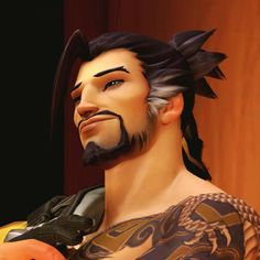 Hanzo enjoyed the view. He looked at his secret stalker and smiled when he saw McCree who was staring at him with love in his eyes. Overwatch Hanzo, Overwatch Fan Art, Genji Shimada, Hanzo Shimada, Shimada Brothers, Cosplay, Pretty Men, My Tumblr, Modern Man